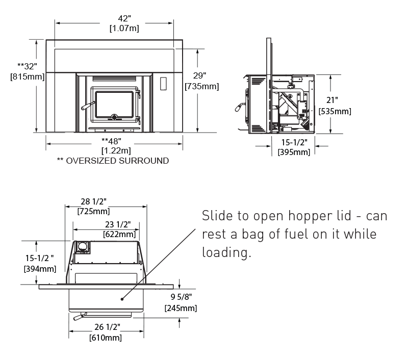 TN40 Pellet Insert Dimension Drawing