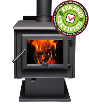 TN20 Wood Stove Pedestal Model – EPA2020 certified and catalytic-free