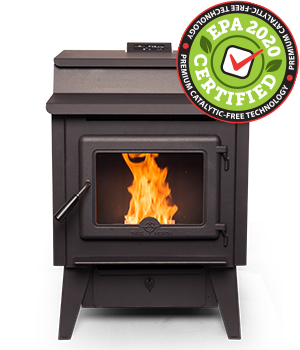 TN20 Pellet Stove Leg Model – EPA2020 certified and catalytic-free